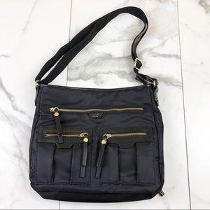 Tutilo• Black & Gold Cross Body Bag